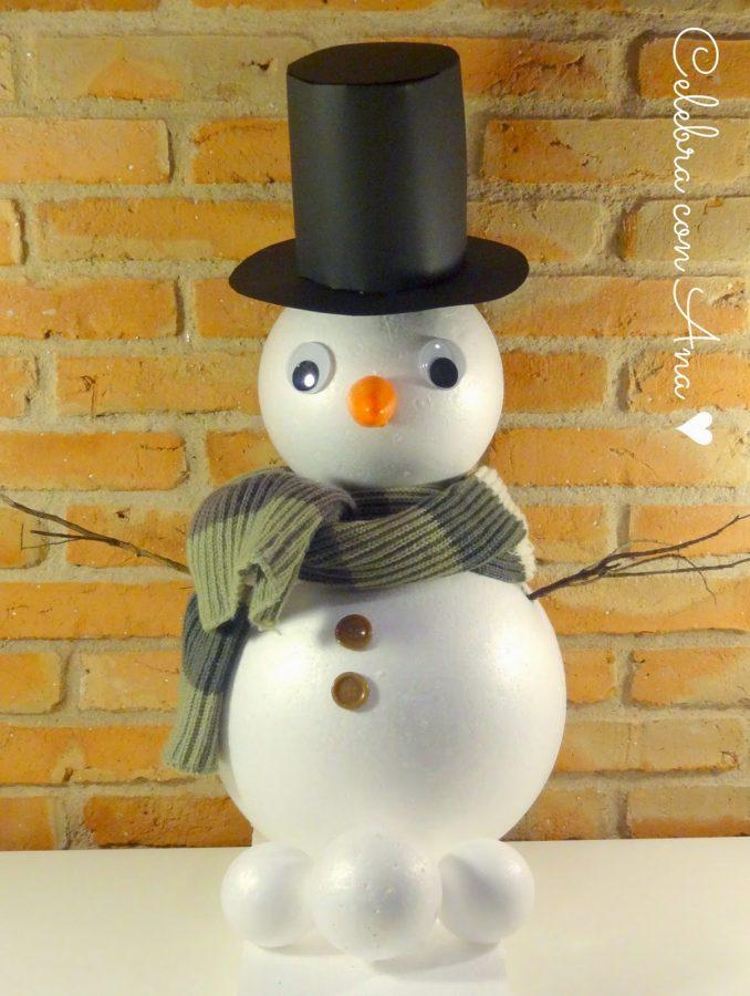 b2366fbc Muñeco de nieve casero • Celebra con Ana