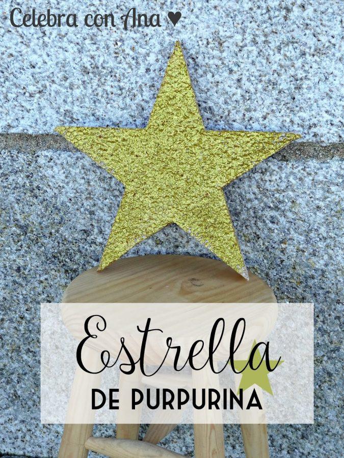 9cfa80ff0ac Estrella con Purpurina (Glitter Star) • Celebra con Ana