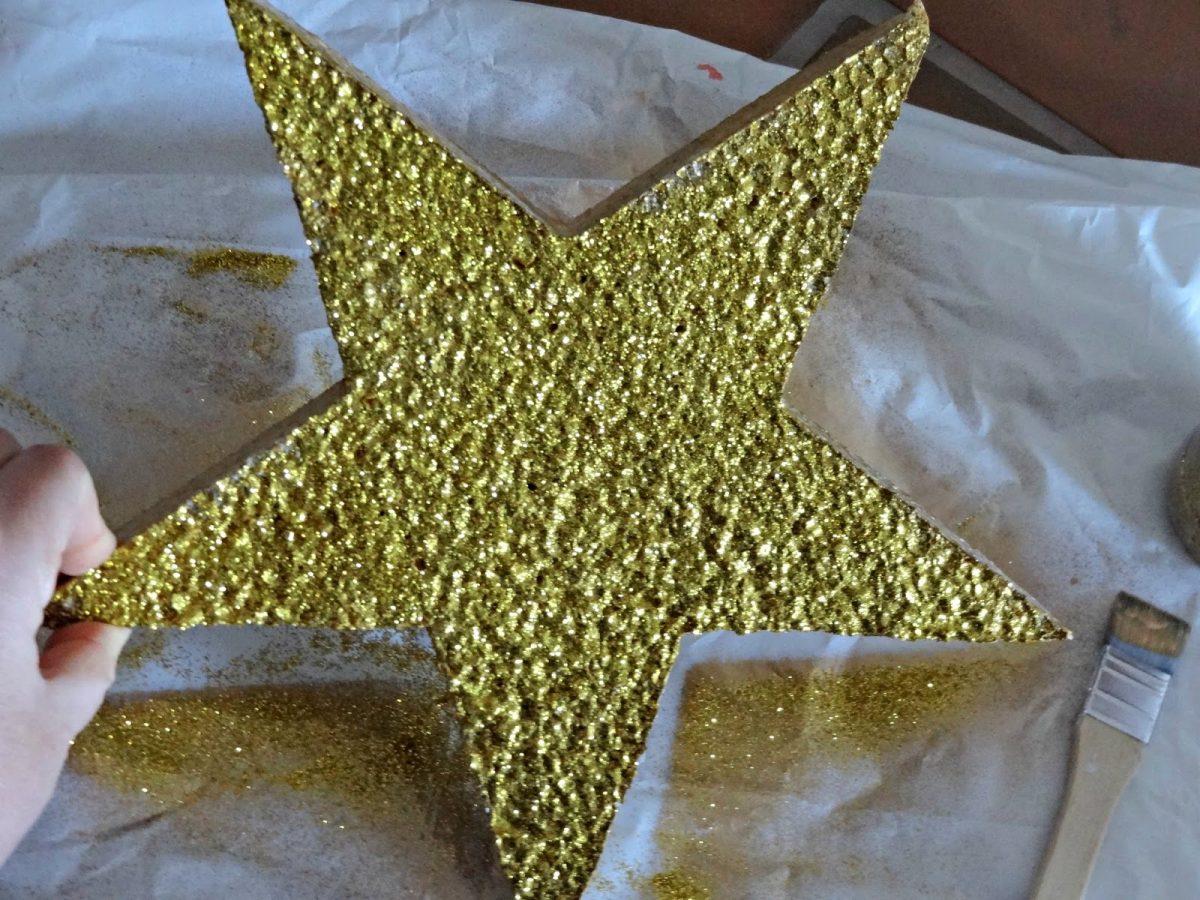Estrella Con Purpurina Glitter Star Celebra Con Ana
