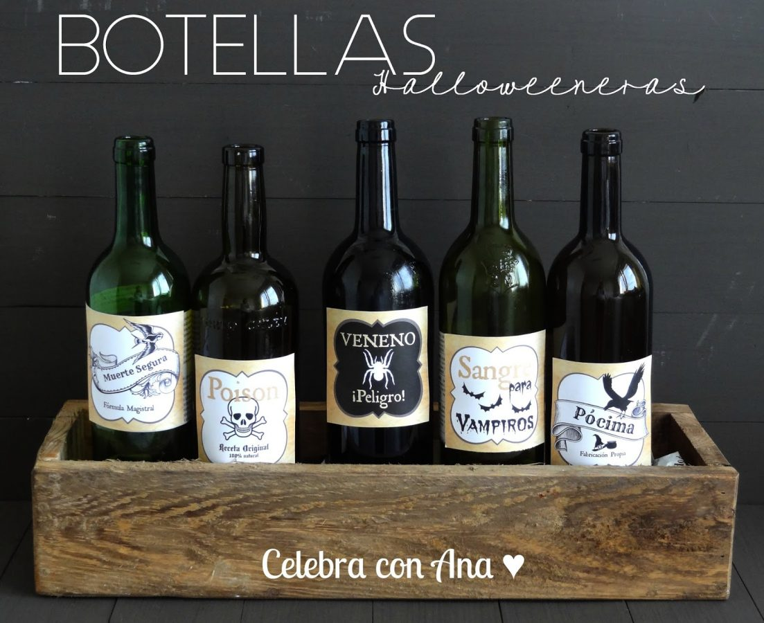 Etiquetas imprimibles para botellas
