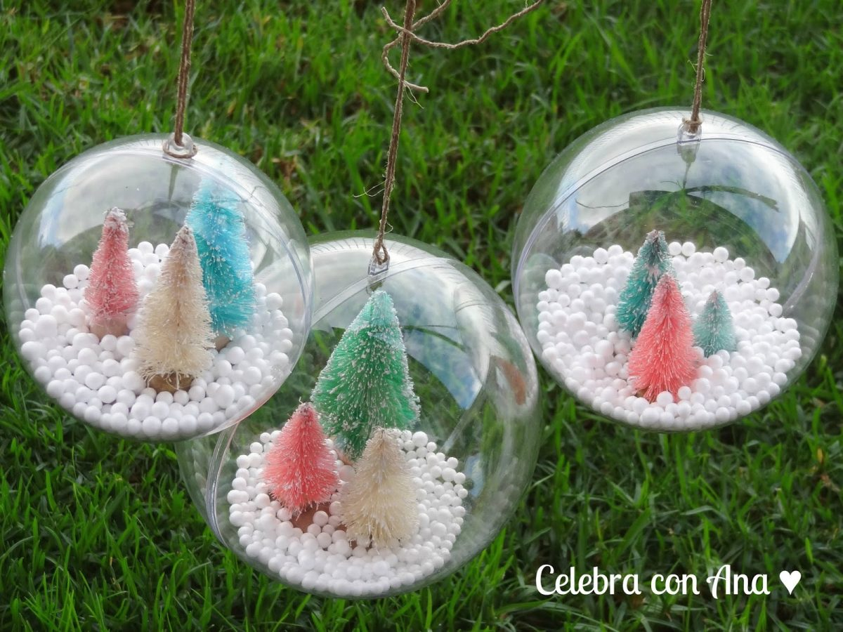 Bolas transparentes de navidad celebra con ana - Bolas navidad transparentes ...
