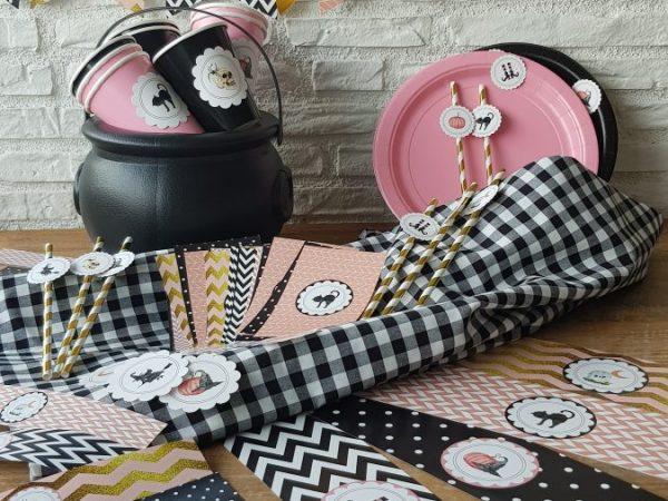 Fiesta Halloween en rosa y negro