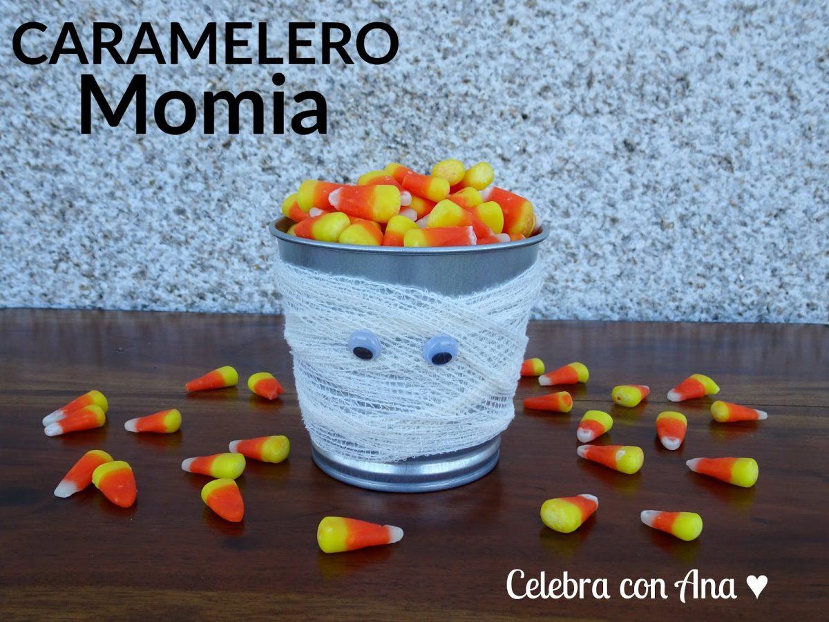 Caramelero momia para halloween