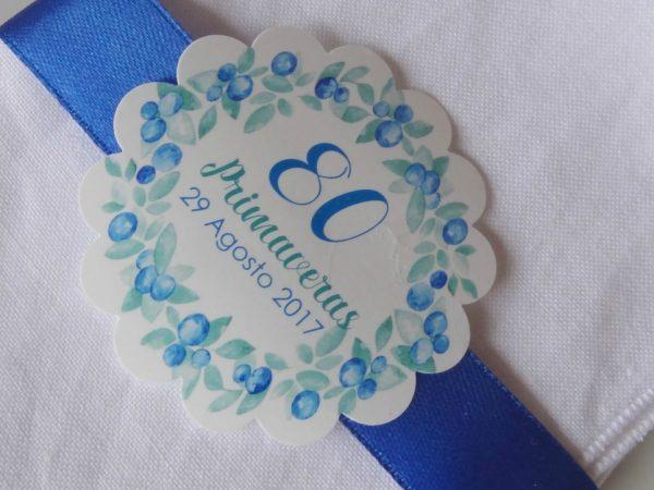 kit de fiesta flores azules
