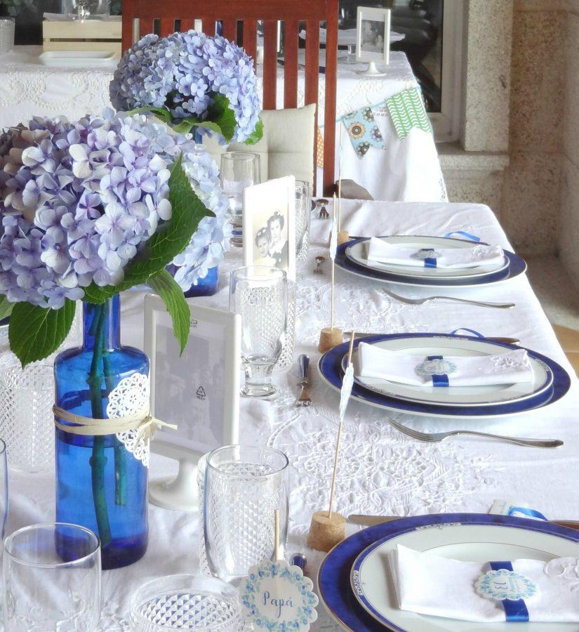 fiesta flores azules