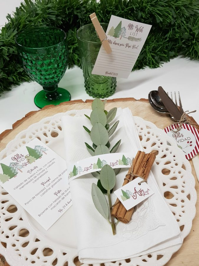 papelería mesa navidad