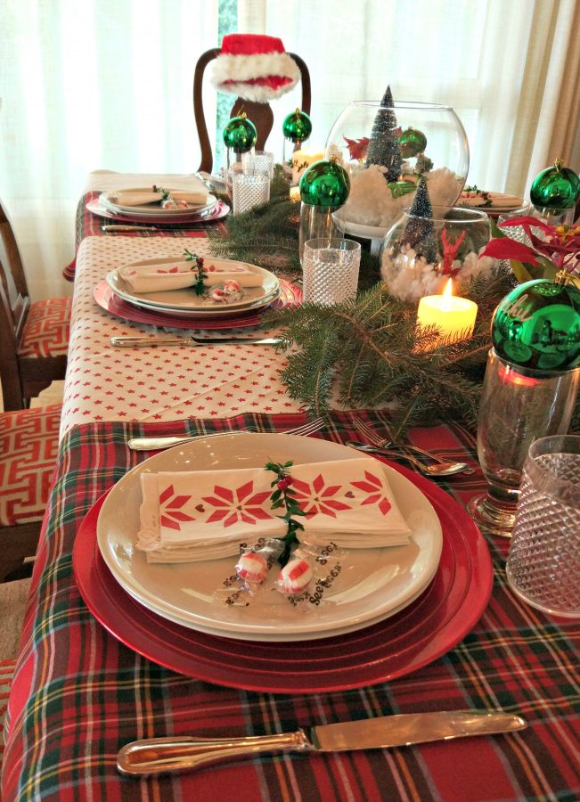 decorar mesa nochebuena