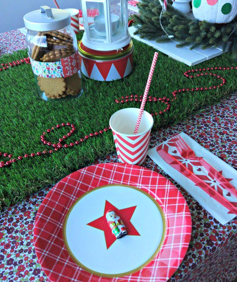 mesa de nochebuena para niños