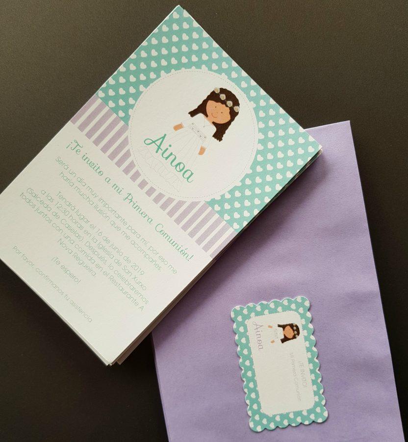 Invitaciones De Comunión Personalizadas Celebra Con Ana