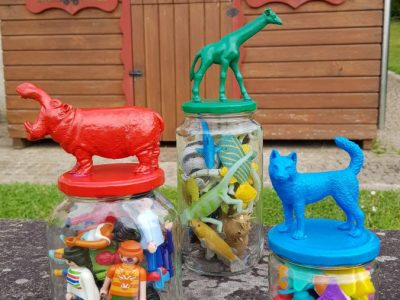 Botes decorados con animales