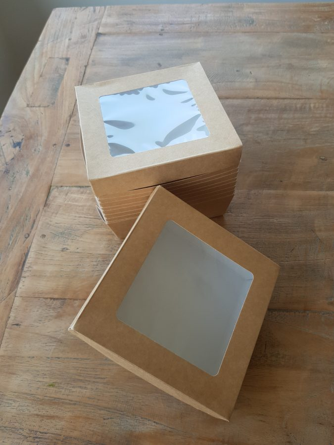Caja Kraft tapa transparente